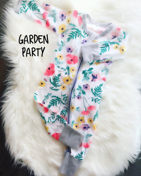 Garden Party Floral Long Sleeve Romper
