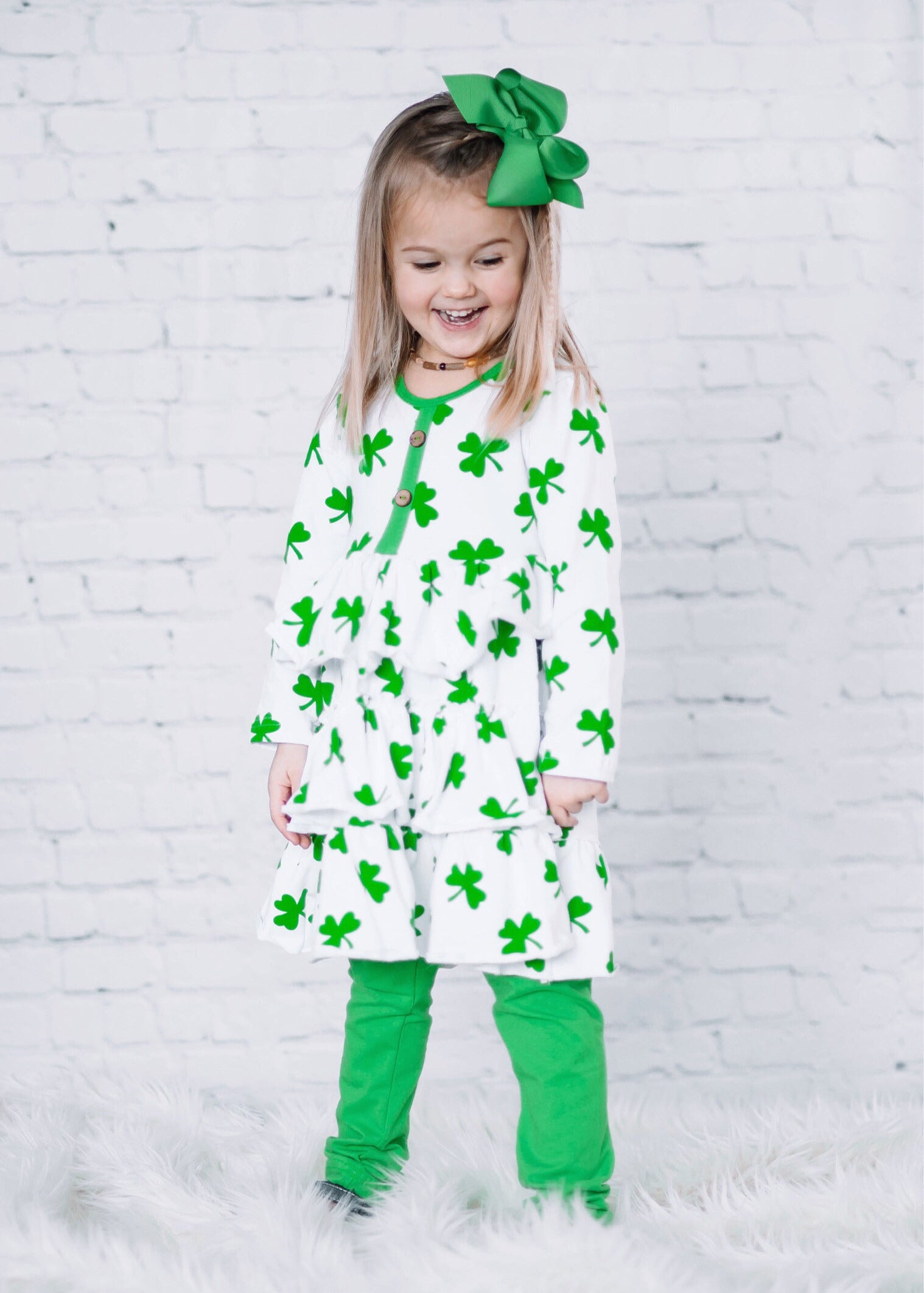 48ca58ac Girls Boutique St. Patricks Day Outfits: Clover Tunic Outfit ...