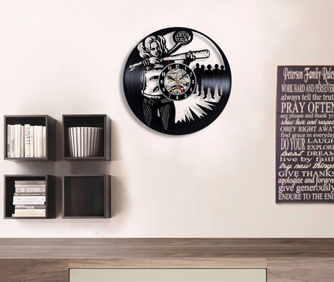 "Harley Quinn ""Let's Talk"" Vinyl Record Wall Clock"