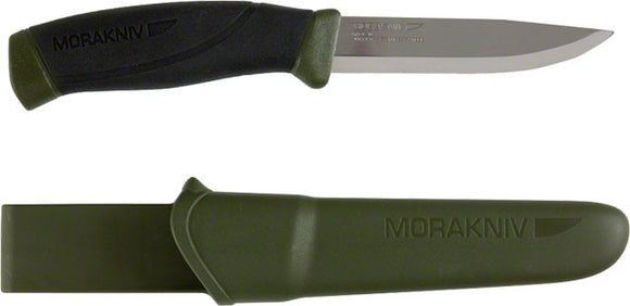 Light My Fire - Morakniv Companion Fixed Blade Knife: Green/Black - KakiOutdoor.com