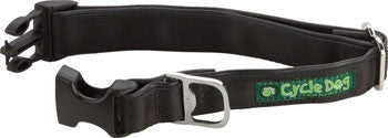 Cycle Dog - Cycle Dog Quick-Release Dog Collar, Plastic Buckle, Solid Black - KakiOutdoor.com