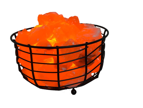 Salt Lamp Basket Iron Bowl