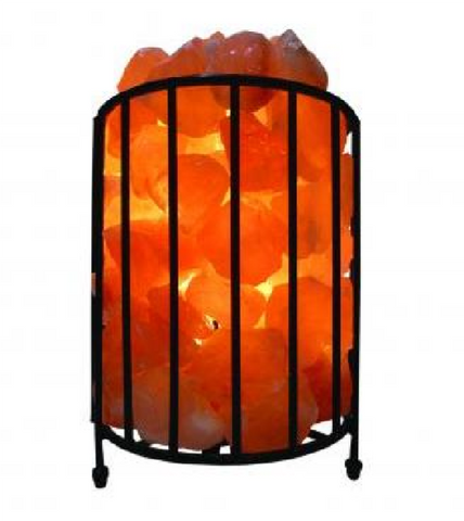 Salt Lamp Cylinder Shape Iron Bowl