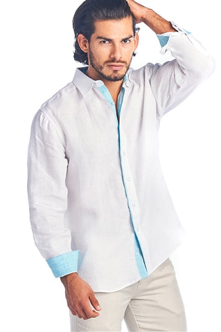 CAPE TOWN LONG SLEEVE ITALIAN LINEN SHIRT - Martinez Montiel