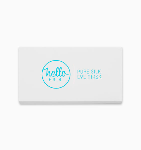 Hello Hair Pure Silk Eye Mask | Charcoal