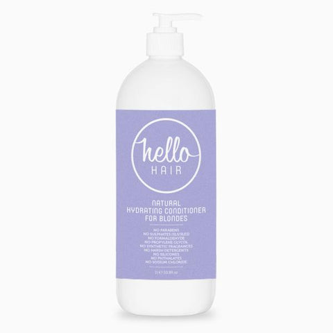 Hello Hair Natural Hydrating Conditioner for Blondes 1L