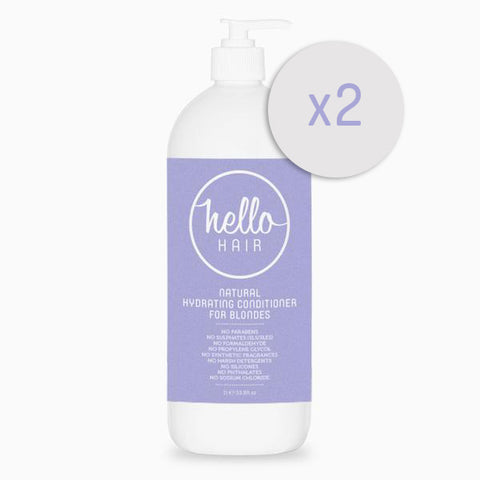 2 FOR 1: Hello Hair Natural Hydrating Conditioner for Blondes 1L