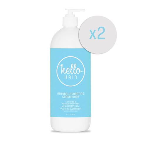 2 FOR 1: Hello Hair Natural Hydrating Conditioner 1L