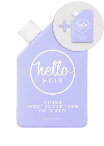 2 FOR 1: Hello Hair Natural Hydrating Conditioner for Blondes 200mL