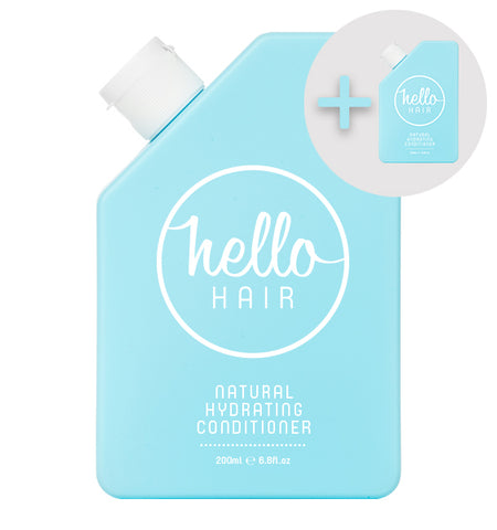 2 FOR 1: Hello Hair Natural Hydrating Conditioner 200mL | BEST SELLER