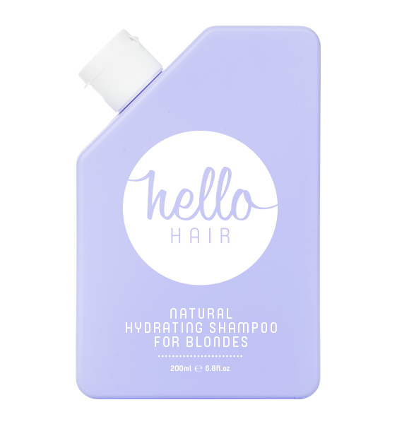 HELLO HAIR NATURAL HYDRATING SHAMPOO FOR BLONDES 200mL | OUT OF STOCK