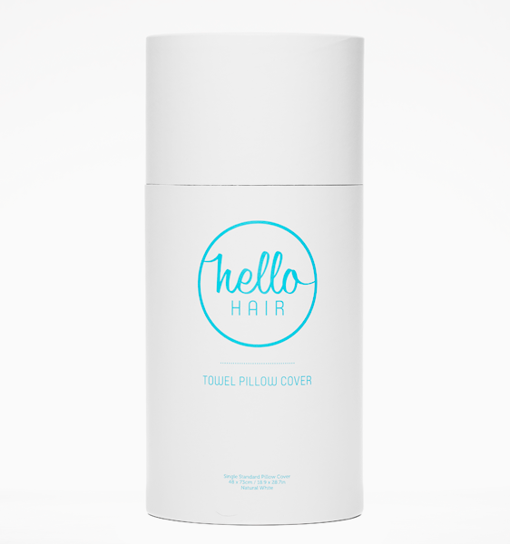Hello Hair Towel Pillow Cover