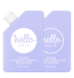 HELLO HAIR NATURAL HYDRATING SHAMPOO + CONDITIONER FOR BLONDES DUO | BACK IN STOCK