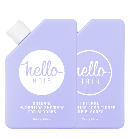HELLO HAIR NATURAL HYDRATING SHAMPOO + CONDITIONER FOR BLONDES DUO | OUT OF STOCK