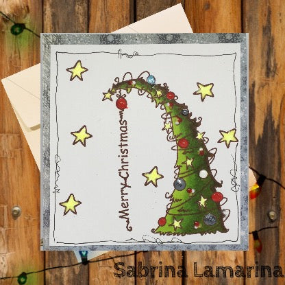 NEW Merry Christmas Tree Rubber Stamp Set [00-906P5]