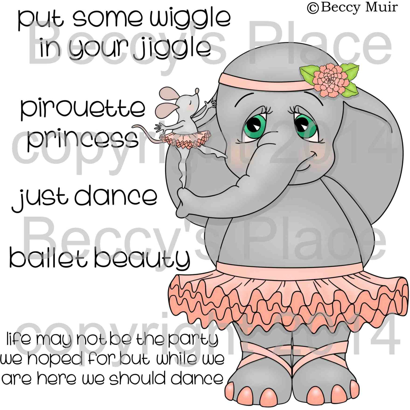 Ellie's Dance Lessons Digital Stamp Set[DIGI667B]