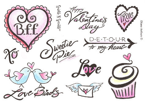 Love is Sweet Rubber Stamp Set [00-401P4]