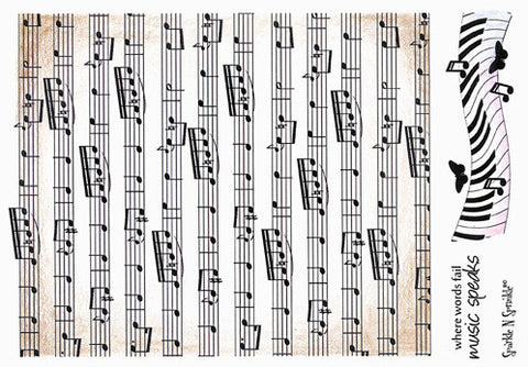 Music Background - Rubber Stamp Set [00-427P4]