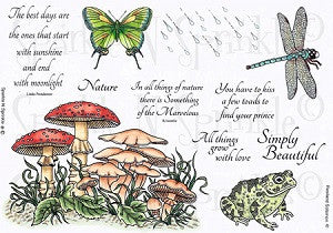 Nature SNS Rubber Stamp Set [00-467P4]