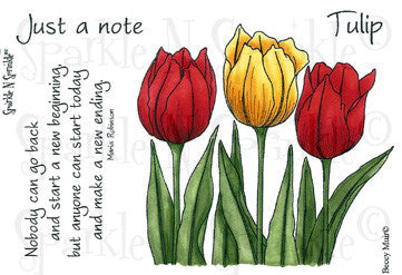 Tulips Rubber Stamp Set [00-491P5]