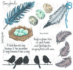 Bird Song Rubber Stamp Set, 00-496P6