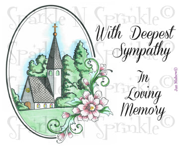 Church Sympathy Rubber Stamp Set [00-604P5]
