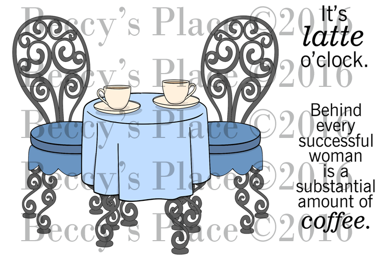 Coffee Time Digital Stamp Set, DIGI694B
