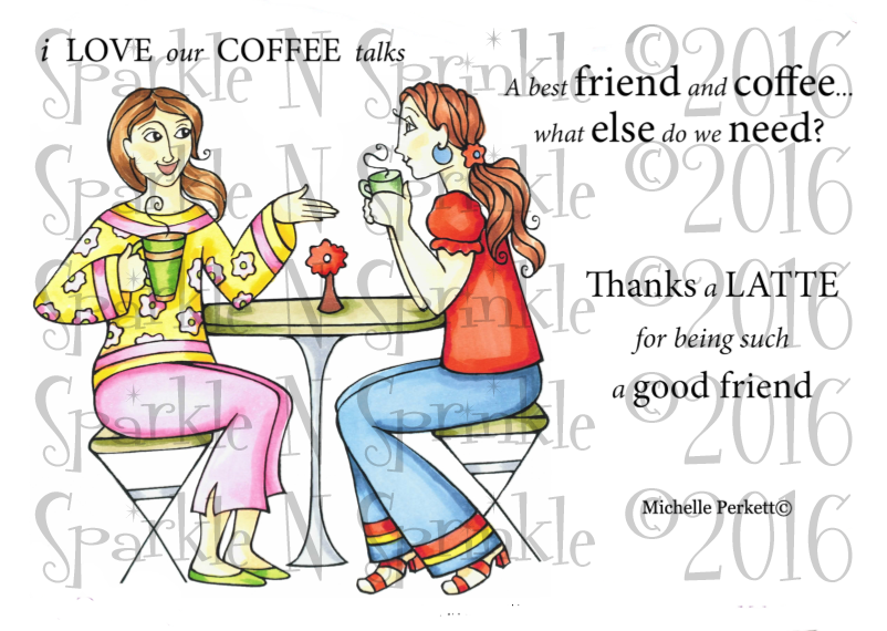 Coffee Talks Digital Stamp Set [DIGI700M]