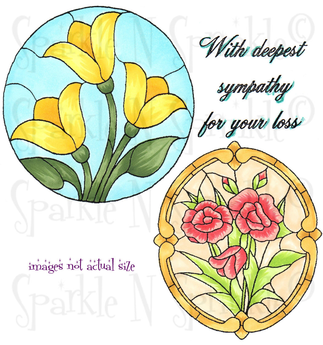 Stain Glass Rounds Digital Stamp Set [Digi719]