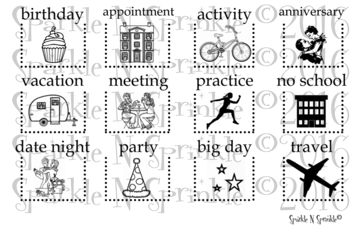 Big Day Rubber Stamp Set [00-749P5]