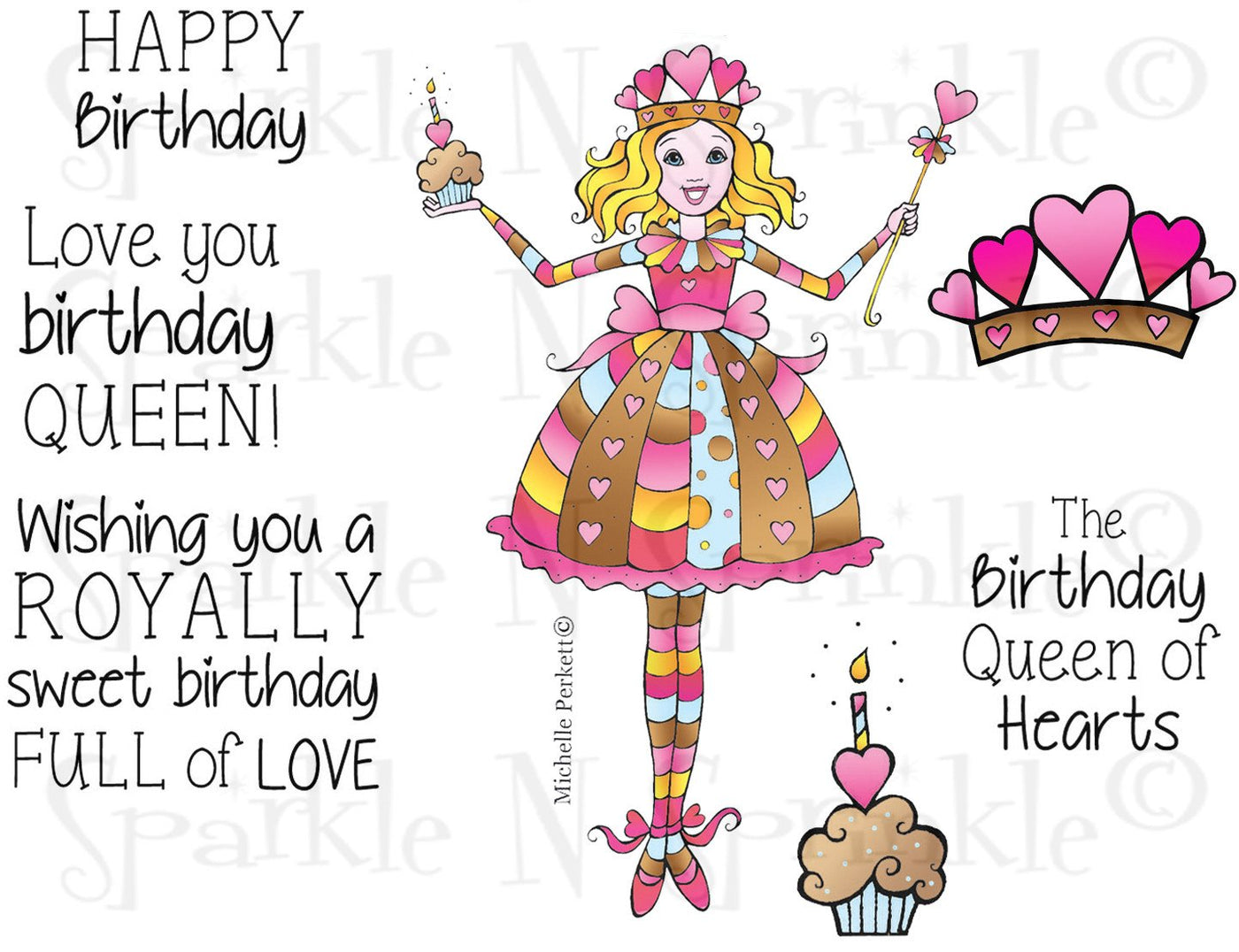 Birthday Queen Digital Stamp Set [DIGI759m]