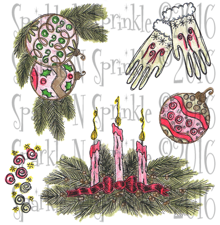Candle Centerpiece Digital Stamp Set, DIGI765