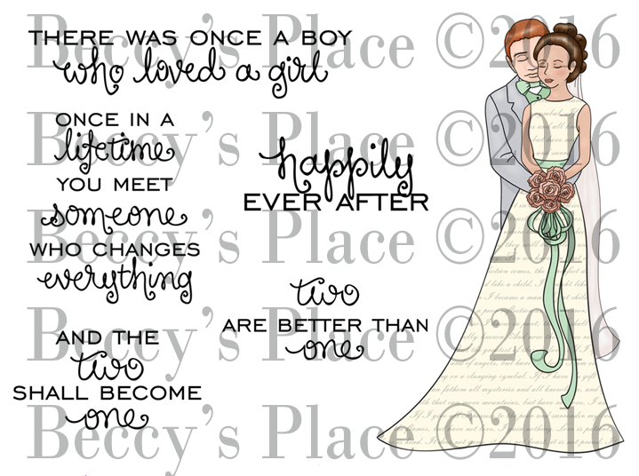 Happily Ever After Rubber Stamp Set [00-770P5]