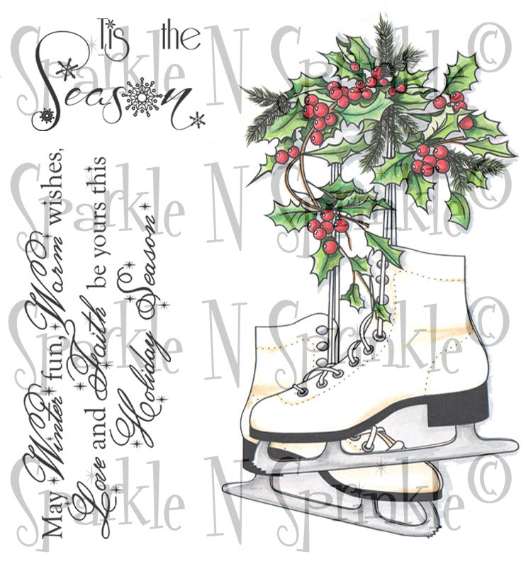 Christmas Skate Stamp Set [00-789P6]