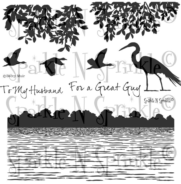 Wetlands 1 Rubber Stamp Set 790P6 [00-790P6]