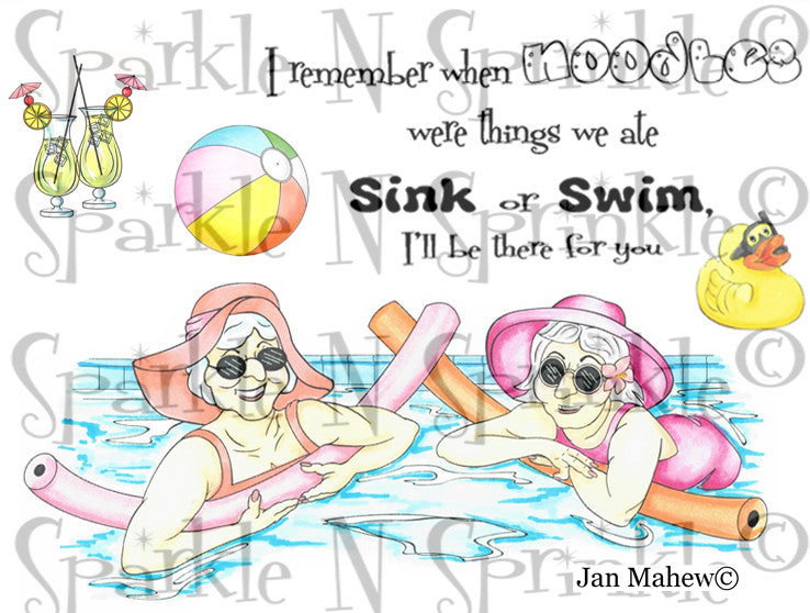 Pool Friends Digital Stamp Set [Digi792J]