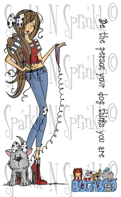 Puppy Girl Digital Stamp Set [Digi793BG]