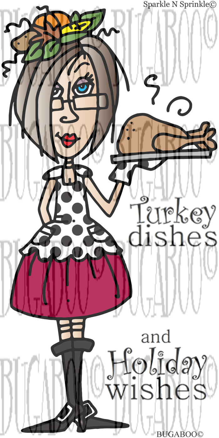 Turkey Dish Rubber Stamp Set [00-801P8]