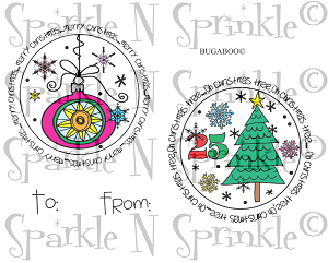 Christmas Tags #1 Rubber Stamp Set [00-805P5]