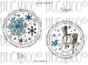 Christmas Tags #2 Rubber Stamp Set [00-806P5]