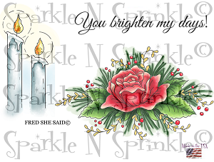 Christmas Candles Digital Stamp Set [Digi807FS]