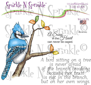 Winter Blue Jay Digital Stamp Set [Digi809FS]