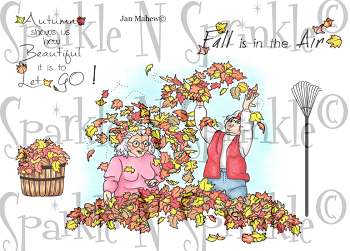 Autumn Girlfriends Digital Stamp Set [Digi810j]
