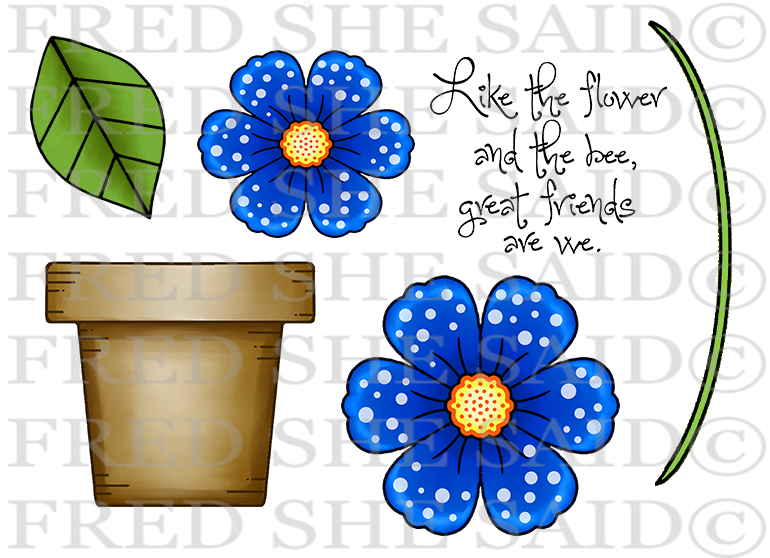 Build A Flower Digital Stamp Set [Digi811FS]