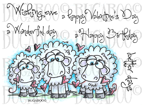 Will Ewe Be Mine? Rubber Stamp Set [00-813P5]