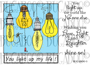 Light Up My Life Rubber Stamp Set [00-814P5]