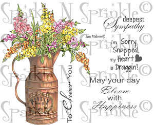 Rustic Flowers - Snapdragons Stamp Set [00-816P5]