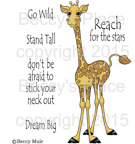 Milton the Friendly Giraffe Digital Stamp Set [Digi817b]