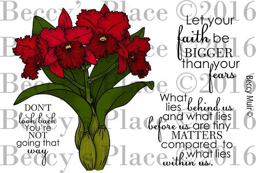 Cattleya Friendship Digital Stamp Set (Digi818b)