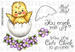 Easter Chicky Rubber Stamp Set, 00-820P5